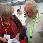 TUB HH-Mitarbeiter Edlef Stabenau stellt E-Book-Reader im Rahmen der Zukunftswerkstatt des Bibliothekartags vor