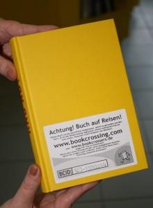 Buch vorbereitet für das Bookcrossing