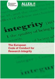 Eurpean Code of Conduct for Research Integrity