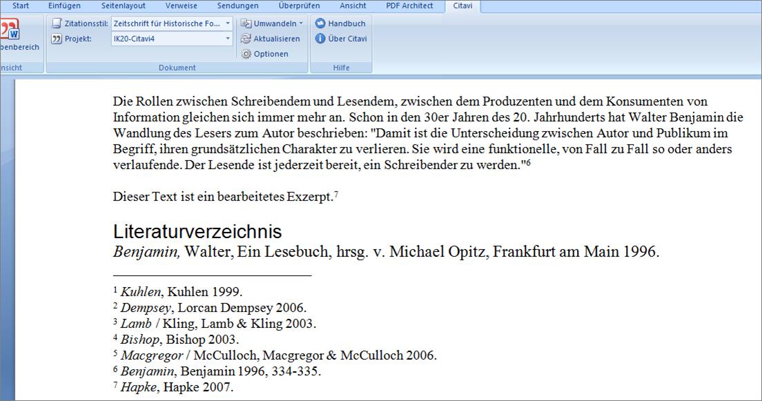 Literaturverwaltung   Wissenschaftliches Arbeiten