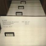 Schiffbaudokumentation auf Karteikarten