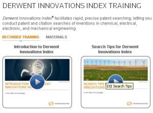 Derwent Innovations Index - Training page