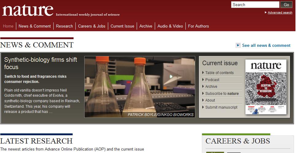 Homepage Nature