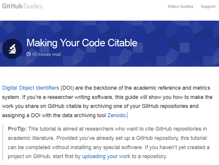 Making Your Code Citable · GitHub Guides