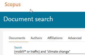 Scopus database search