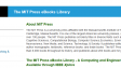 New online books from MIT Press