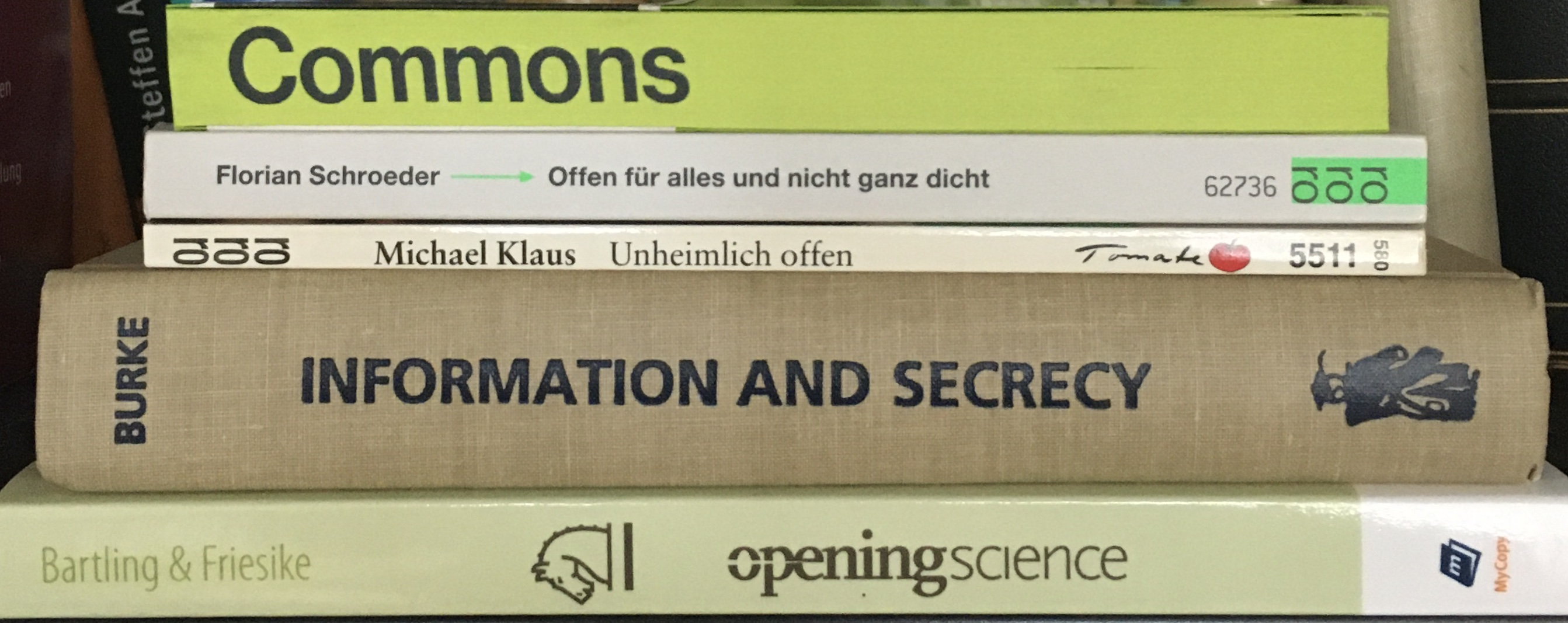 Books on openness