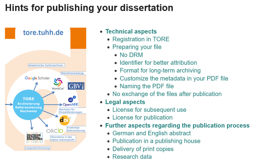 Hints for publishing your dissertation