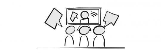 Videokonferenz Symbolzeichnung