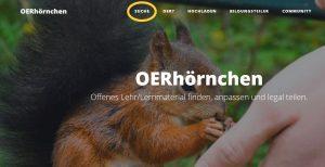 Mediensuche mit dem OERhörnchen