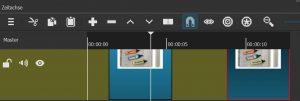 """Die grünen Platzhalter auf der Timeline können per Rechtsklick und Auswahl von """"entfernen"""" beseitigt werden."""