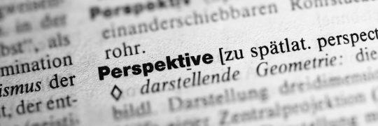 Der Begriff Perspektive im Wörterbuch