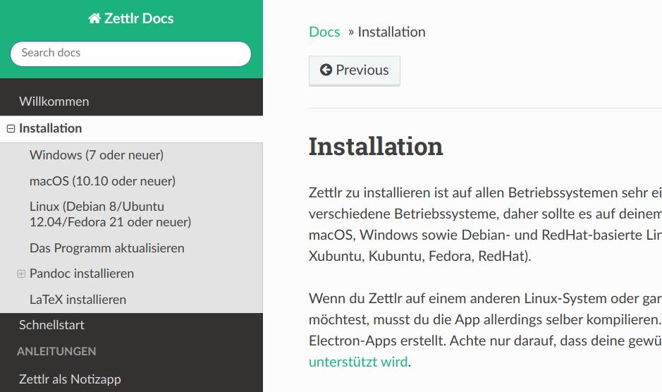 Zettlr Installation