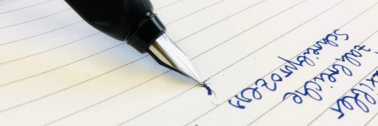 Füller auf Papier
