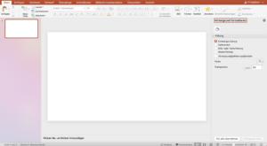 Mit Hilfe von Powerpoint lassen sich eigene virtuelle Hintergründe erstellen.