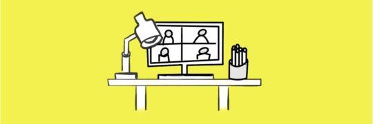 Schreibtisch Videokonferenz