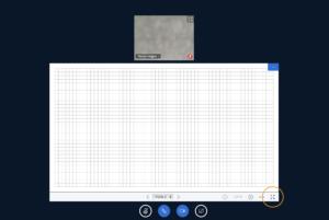 Das Inhaltsfenster kann über den Vollbildbutton angepasst werden.