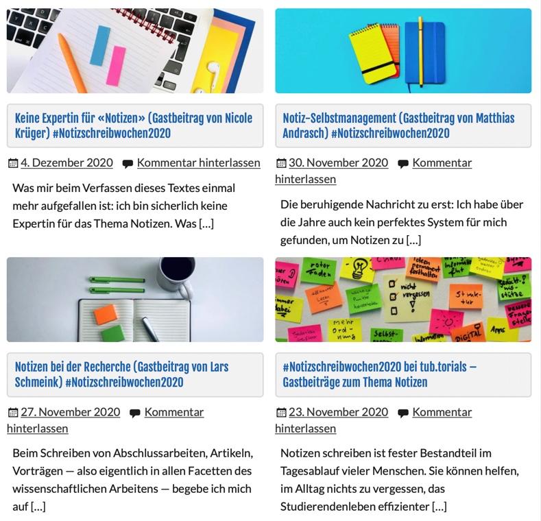 """Selbstmanagement und Struktur ist auch in den Beiträgen der #Notizschreibwochen ein Thema (Screenshot: <a href=""""https://www.tub.tuhh.de/tubtorials/2021/07/06/zeitfresser/"""">Notizschreibwochenbeiträge</a>, <a href=""""https://www.tub.tuhh.de/home/ansprechpartner/florian-hagen/"""">Florian Hagen</a>, <a href=""""https://creativecommons.org/licenses/by/4.0/deed.de"""">CC BY 4.0</a>)"""