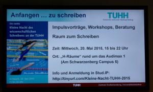 2. Nacht des wissenschaftlichen Schreibens an der TUHH 2015 - Ankündigung