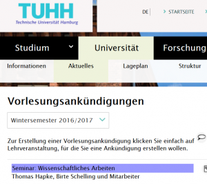 Vorlesungsankündigung Wintersemster 2016/17en