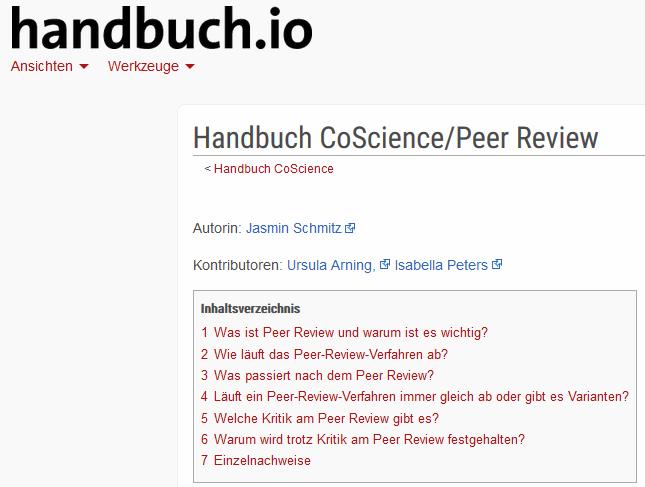 Inhalt: 1 Was ist Peer Review und warum ist es wichtig? 2 Wie läuft das Peer-Review-Verfahren ab? 3 Was passiert nach dem Peer Review? 4 Läuft ein Peer-Review-Verfahren immer gleich ab oder gibt es Varianten? 5 Welche Kritik am Peer Review gibt es? 6 Warum wird trotz Kritik am Peer Review festgehalten? 7 Einzelnachweise