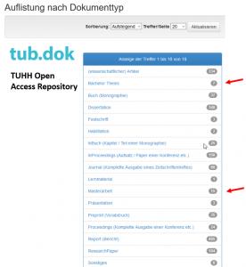 Auflistung nach Dokumenttyp - Dokumente im Open Access Repository der TUHH tub.dok