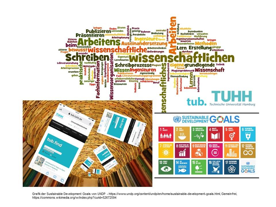 Remix Wissenschaftliches Arbeiten Wordle, tub.find und UN SDGs