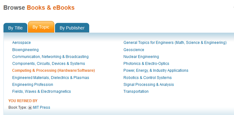 MIT Press ebooks on IEEE Xplore platform