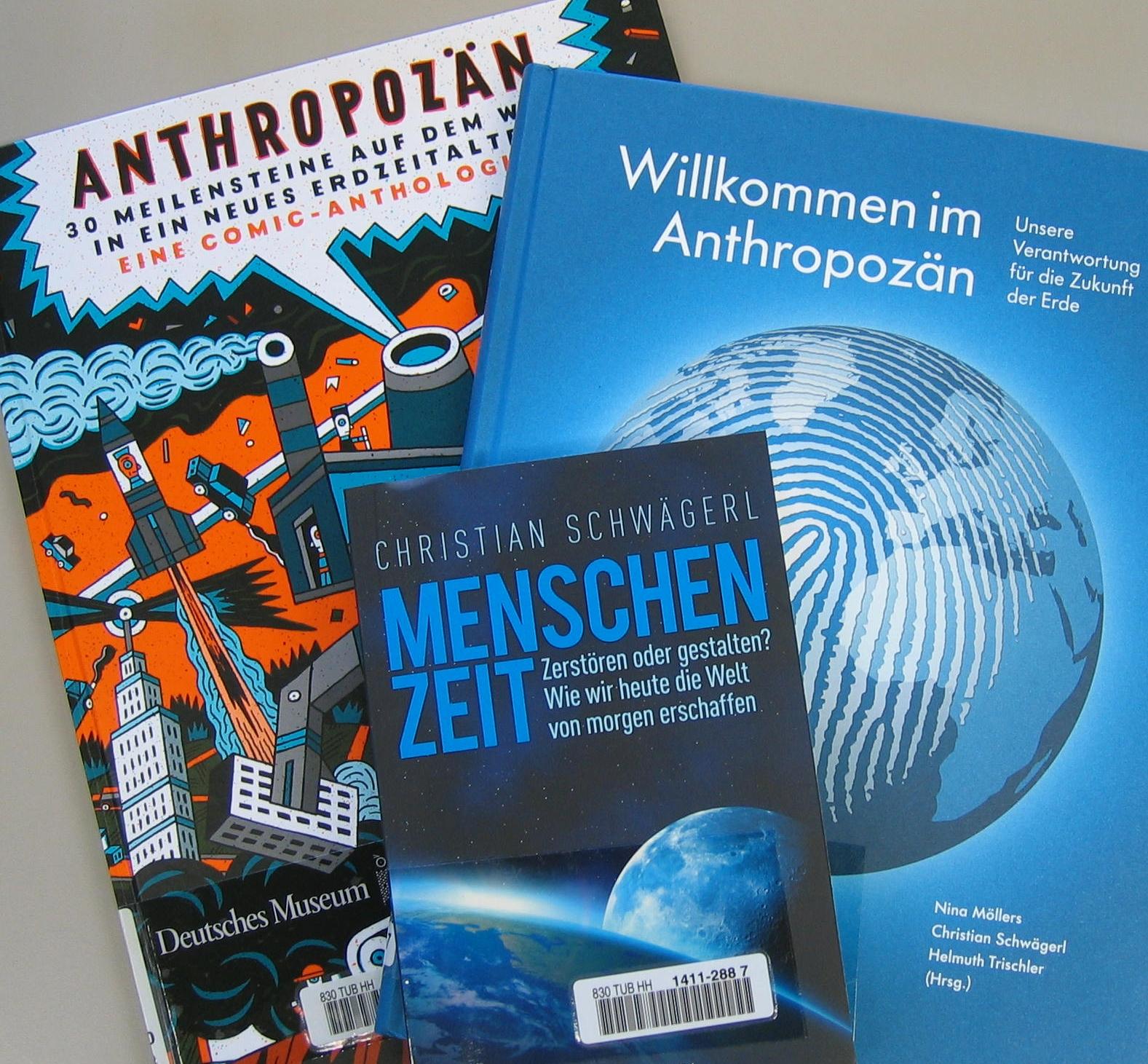 Bücher zum Thema Anthropozän in der TUHH-Bibliothek