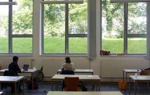 Raum zum Schreiben im Grünen