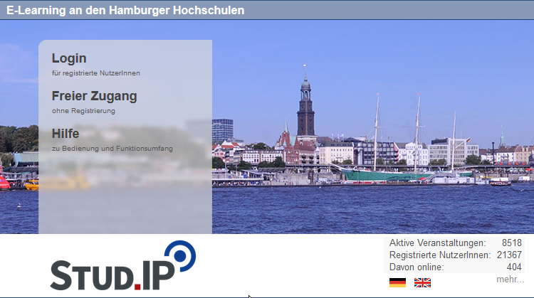 STUD.iP E-Learning an den Hamburger Hochschulen