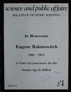 Bulletin of the Atomic Scientists - Ausgabe Juni 1973