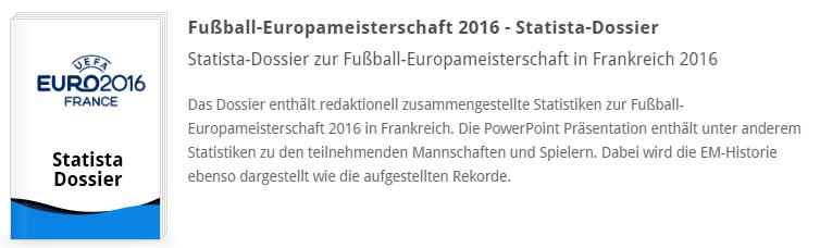 Fußball-Europameisterschaft 2016 - Statista-Dossier
