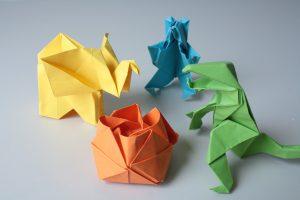 Einer unserer Besucher konnte wunderbare Origami von Tieren machen.