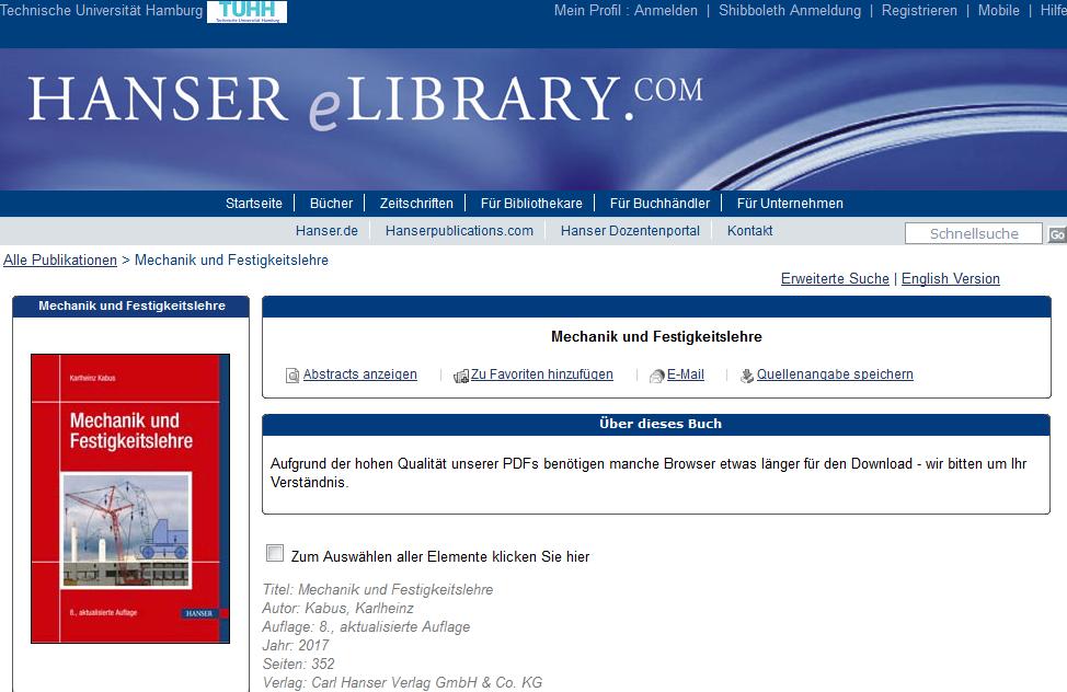 Hanser eBooks