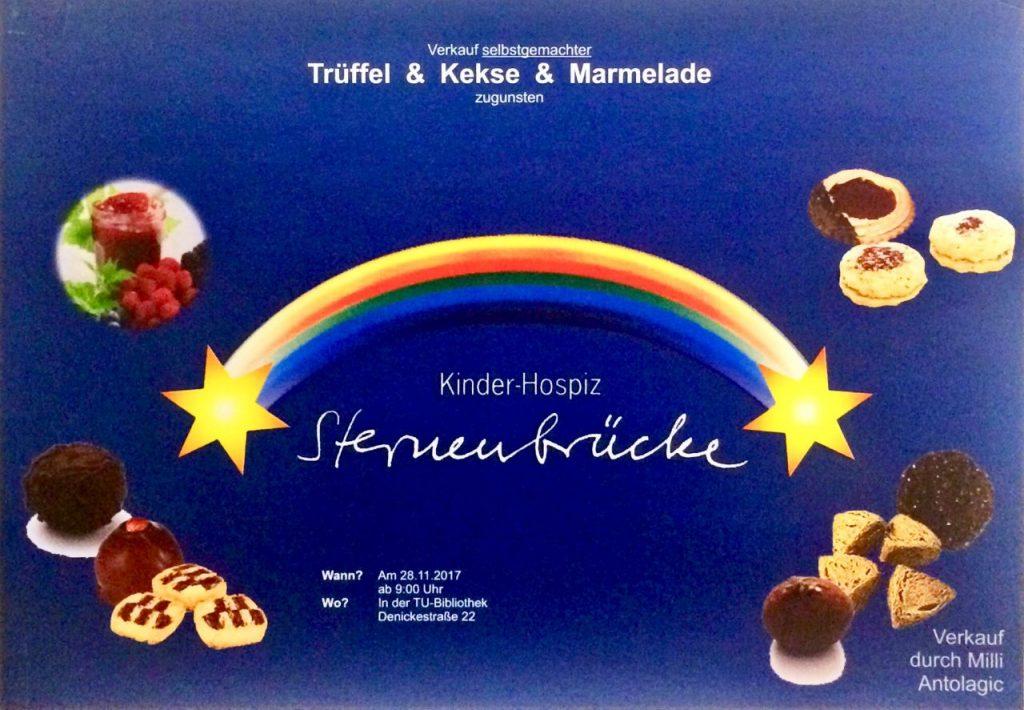Trüffel, Kekse und Marmelade. Plakat