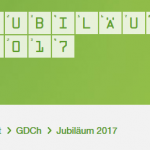 Screenshot Website GdCh Jubiläum