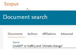 Recherche in Datenbank Scopus
