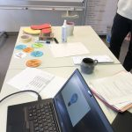 Impressionen aus der Konzeptionsphase (Laptop und Tisch)