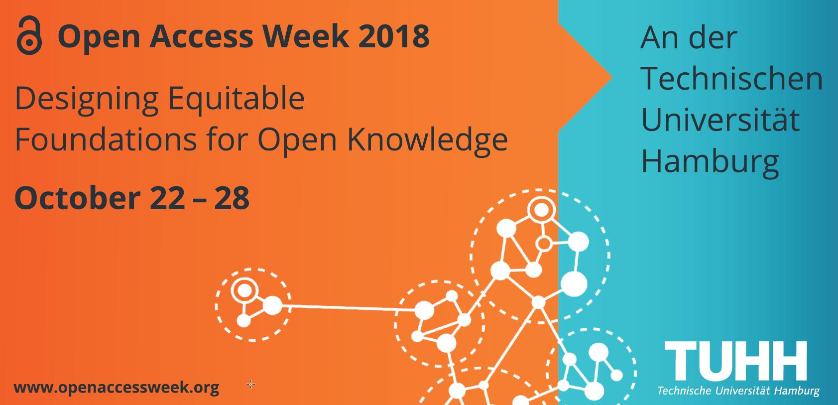 Programm-Logo für die Open Access Week 2018 an der TUHH