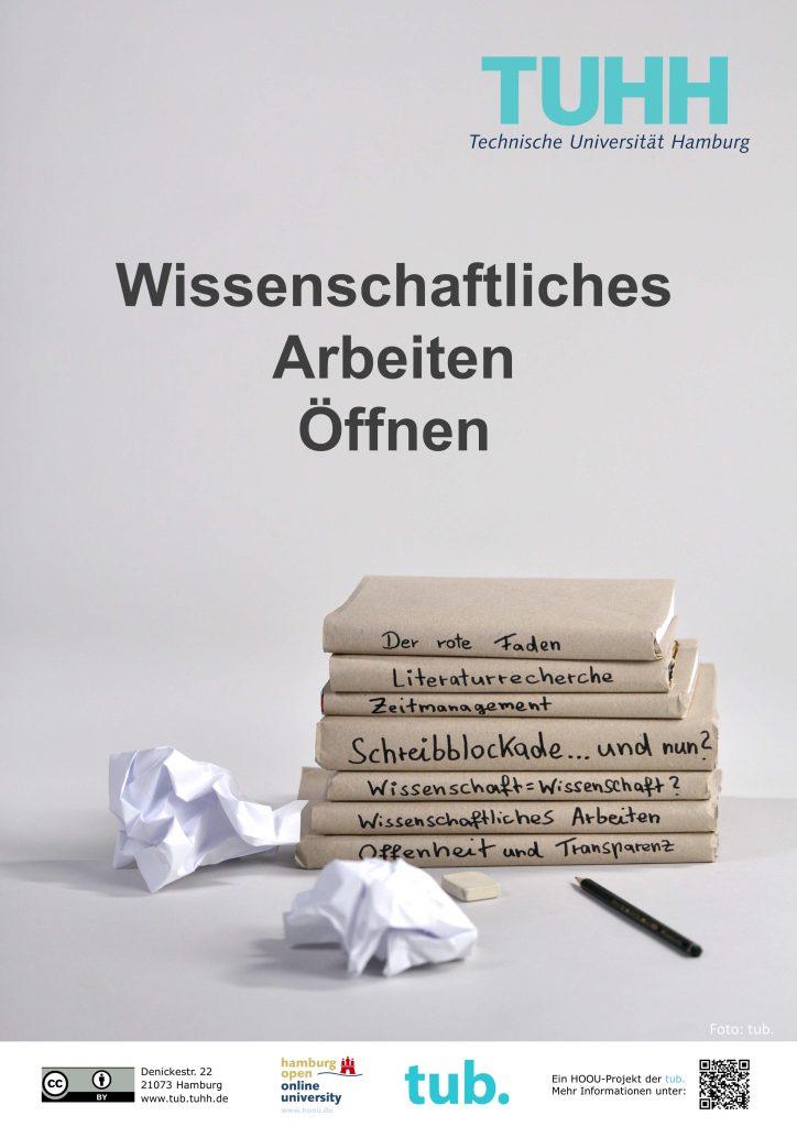 Poster zum Projekt 'Wissenschaftliches Arbeiten oeffnen' der tub.