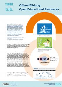 Offene Bildung - OER - Plakat der tub. 2019