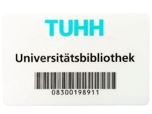 Auf der Rückseite der Karte ist der Barcode mit der Nutzernummer zu sehen.