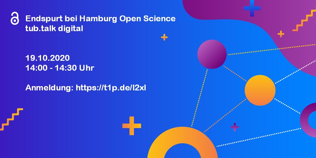 Einladung zum tub.talk Endspurt bei Hamburg Open Science tub.talk digital