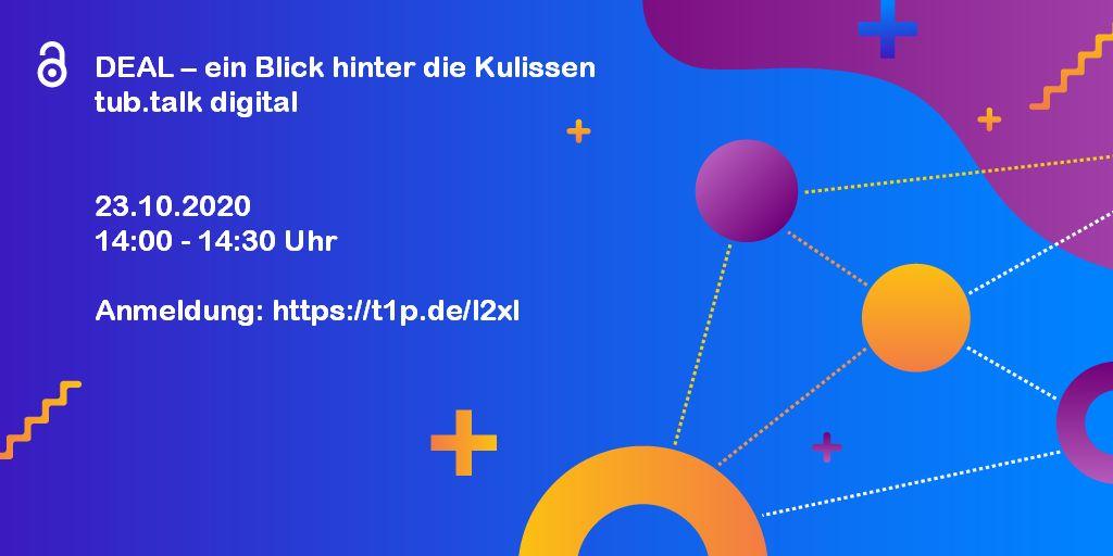 Einladung DEAL – ein Blick hinter die Kulissen tub.talk digital
