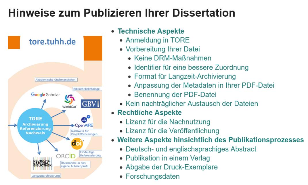 Hinweise zum Publizieren Ihrer Dissertation