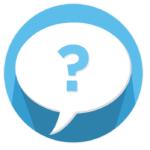 Fragezeichen in einer Sprechblase